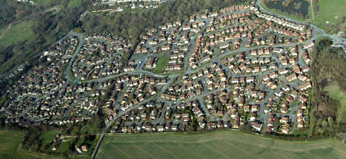 Downswood aerial view